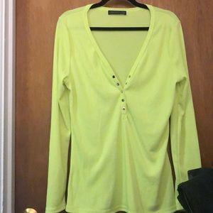 Neon yellow knit top 18w